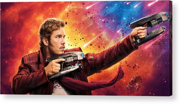 Guardians Of The Galaxy Acrylic Print featuring the digital art Guardians Of The Galaxy by Geek N Rock