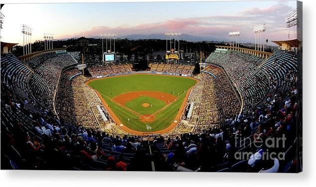 Panoramic Acrylic Print featuring the photograph Arizona Diamondbacks V Los Angeles by Jacob De Golish
