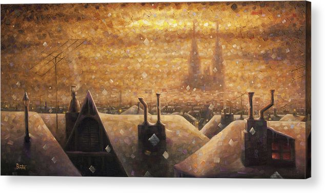 France Art Acrylic Print featuring the painting France Cathedral 4 by Rob Buntin