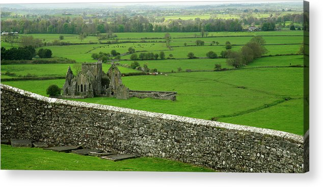 Scenics Acrylic Print featuring the photograph Ireland Country Scape With Castle Ruins by Njgphoto