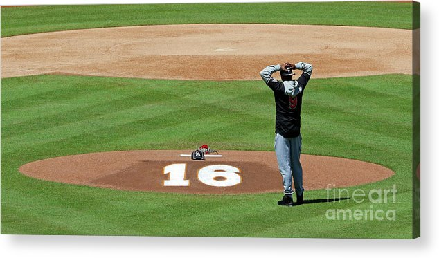 People Acrylic Print featuring the photograph Dee Gordon by Joe Skipper