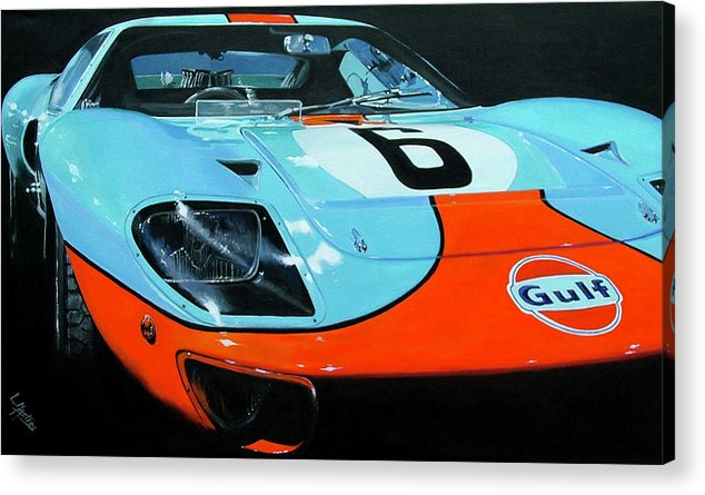 Automotive Acrylic Print featuring the painting Legend Of LeMans by Lynn Masters