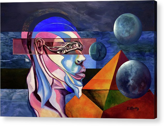 Original Fine Art By Lloyd Deberry Acrylic Print featuring the painting The Maker by Lloyd DeBerry