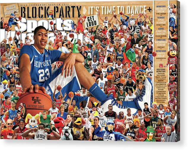 Magazine Cover Acrylic Print featuring the photograph University Of Kentucky Anthony Davis, 2012 March Madness Sports Illustrated Cover by Sports Illustrated