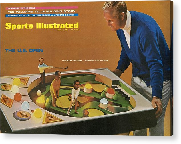 Magazine Cover Acrylic Print featuring the photograph Jack Nicklaus, 1968 Us Open Preview Sports Illustrated Cover by Sports Illustrated