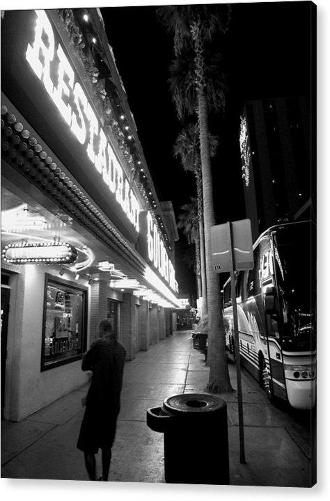 Las Vegas Acrylic Print featuring the photograph Main Street Las Vegas by Bill Buth
