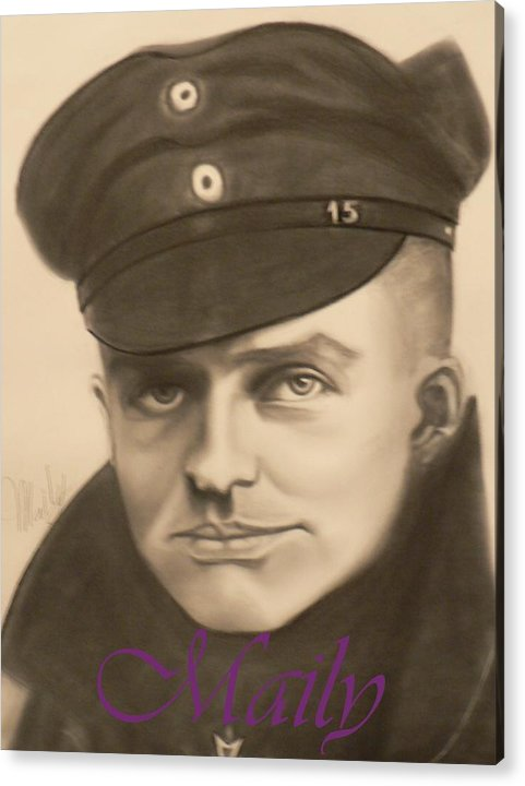 Manfred Richthophen Wwi Acrylic Print featuring the painting Red Baron by Maily