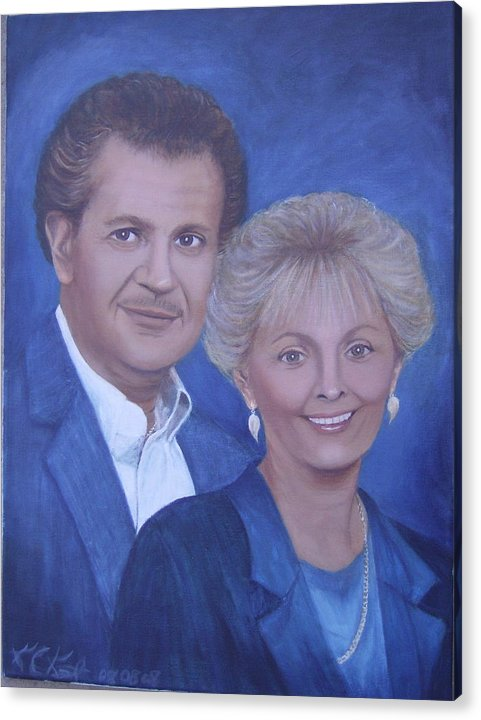 Portraits Acrylic Print featuring the painting Jane And Ray by KC Knight