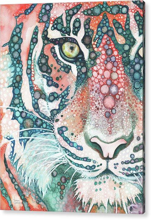 Big Cat Acrylic Print featuring the painting Sumatran Tiger by Tamara Phillips