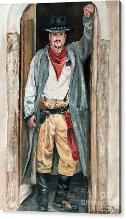 Cowboy Acrylic Print featuring the painting Jesse by CJ Rider