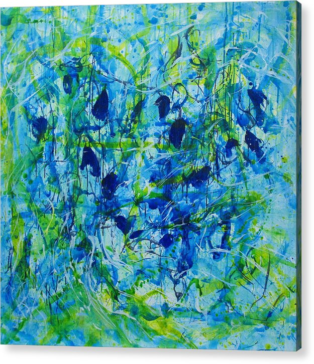 Abstract Acrylic Print featuring the painting Untitle by Shanni Ong