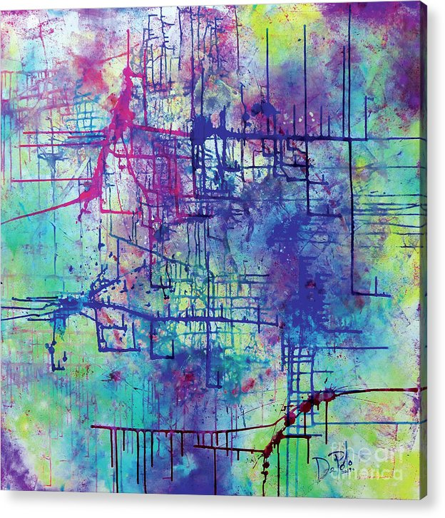 Abstract Acrylic Print featuring the painting Creativity by JoAnn DePolo