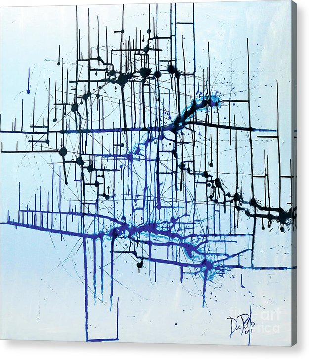 Abstract Acrylic Print featuring the painting Diagram by JoAnn DePolo