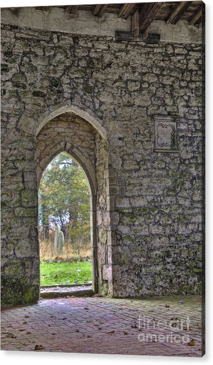 Church Acrylic Print featuring the photograph Church Doorway by Steev Stamford