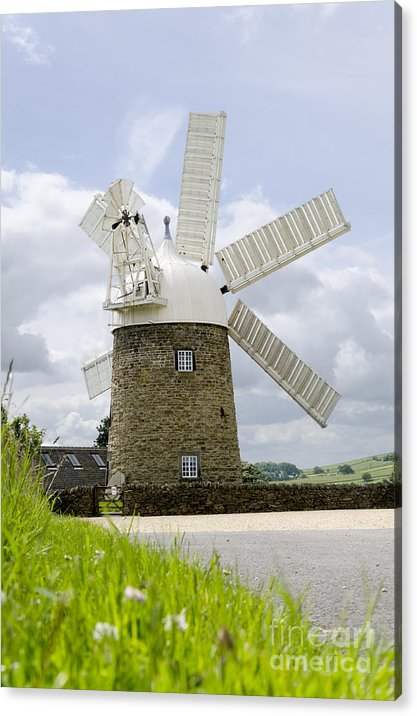 Windmill Acrylic Print featuring the photograph Heage Windmill by Steev Stamford