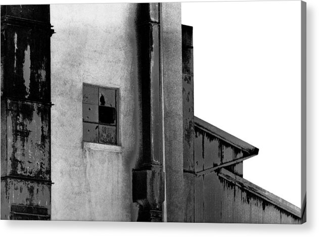 Black And White Acrylic Print featuring the photograph Warehouse by Mike Vines