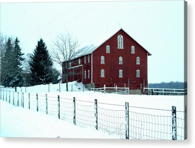 Barn Acrylic Print featuring the photograph 012909-7 by Mike Davis