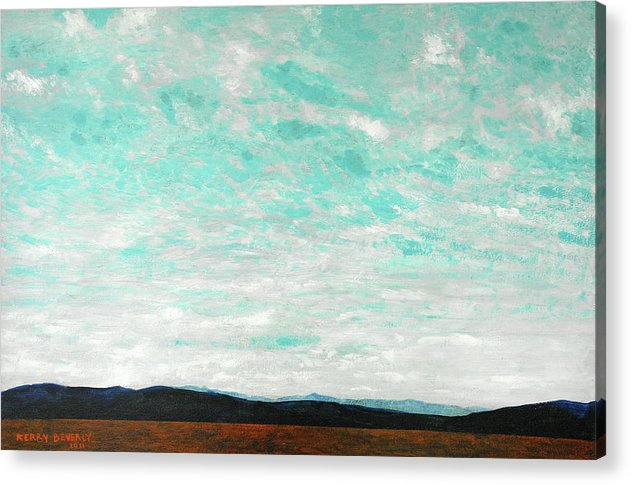 Cloudscape Acrylic Print featuring the painting Cloudscape B by Kerry Beverly