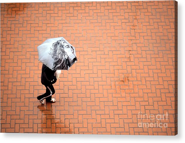 East Acrylic Print featuring the photograph Going East- Umbrellas Series 1 by Carlos Alvim