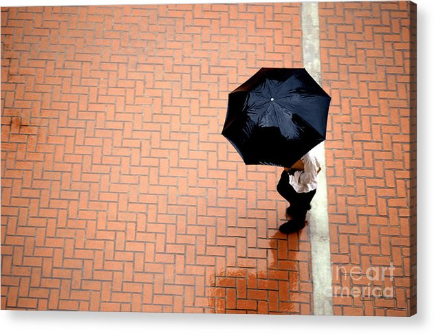 West Acrylic Print featuring the photograph Going West - Umbrellas Series 1 by Carlos Alvim