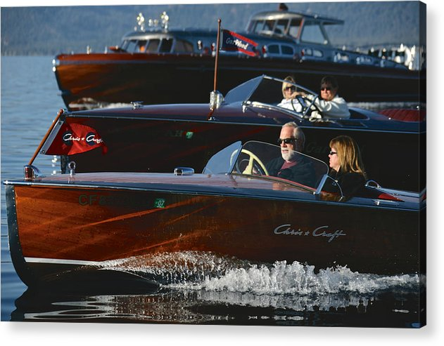 Riva Acrylic Print featuring the photograph Classic Runbouts by Steven Lapkin