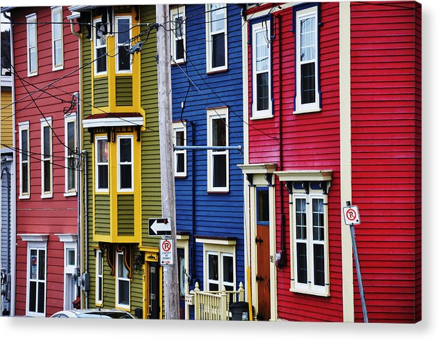 St. John's Acrylic Print featuring the photograph Houses St Johns by Geoff Evans