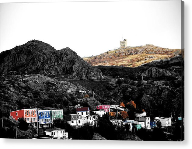 Acrylic Print featuring the photograph Signal Hill St Johns by Geoff Evans