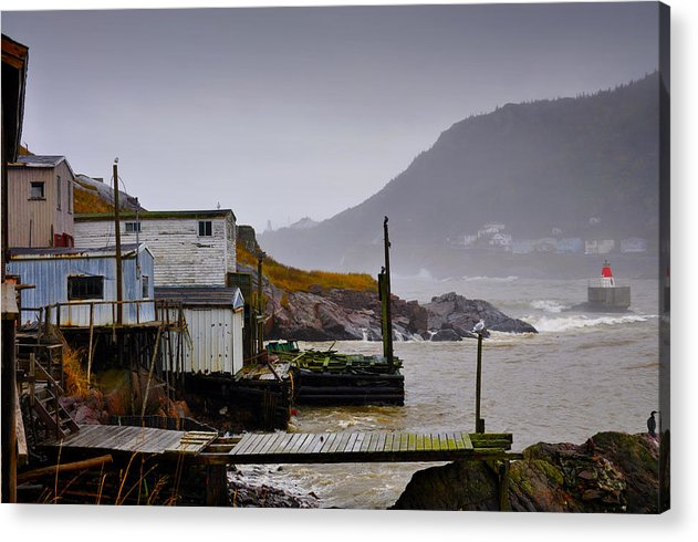 Fort Amherst Acrylic Print featuring the photograph Waters Edge St Johns by Geoff Evans