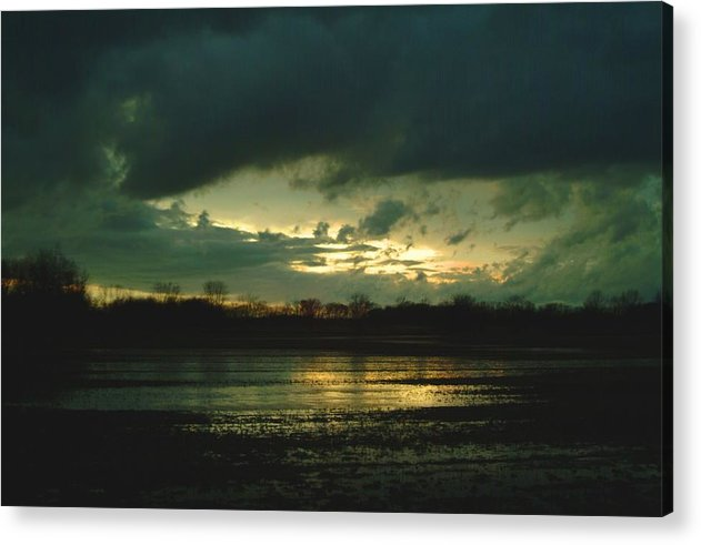 Sunset Acrylic Print featuring the photograph 021109-24 by Mike Davis