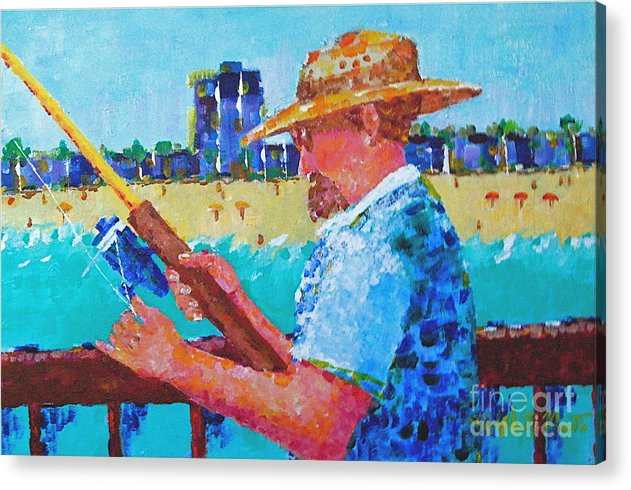 Beach Art Acrylic Print featuring the painting Artist Life by Art Mantia