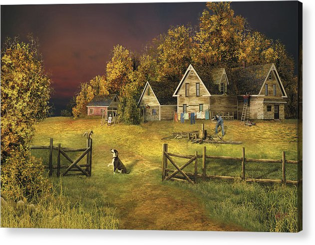 Country Landscape Acrylic Print featuring the digital art Countryliving by Russell Cleversley