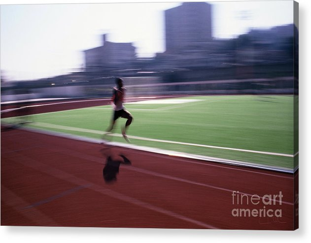 Athlete Acrylic Print featuring the photograph Morning Practice by Carlos Alvim