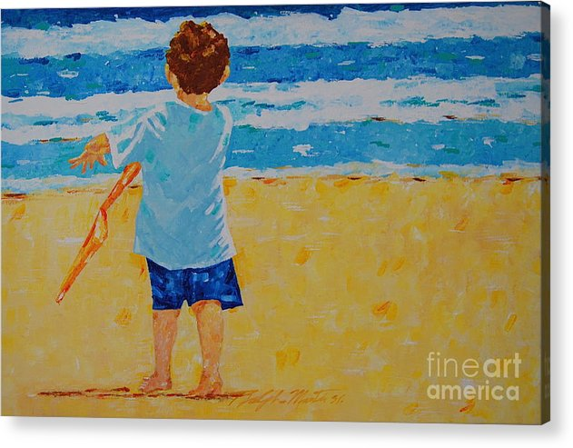 Children Acrylic Print featuring the painting Off To See The Wizard by Art Mantia