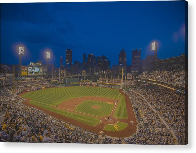 Pittsburgh Acrylic Print featuring the photograph Pnc Park Pittsburgh Pirates C by David Haskett II