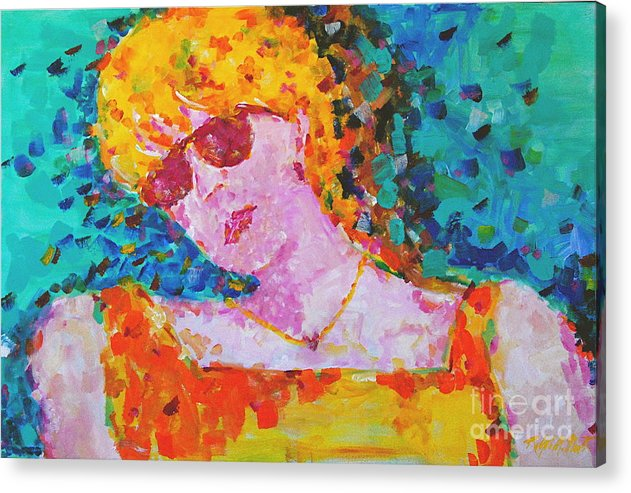 Portraiture Acrylic Print featuring the painting Special Day by Art Mantia