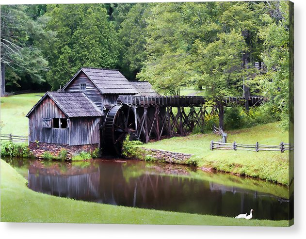 Blue Ridge Parkway Acrylic Print featuring the photograph The Mill by Patricia Turo