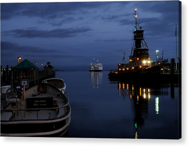 Port Jefferson Acrylic Print featuring the photograph Twilight Last Gleaming by Victor Rugg