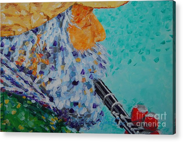 People Acrylic Print featuring the painting Vision The Music by Art Mantia