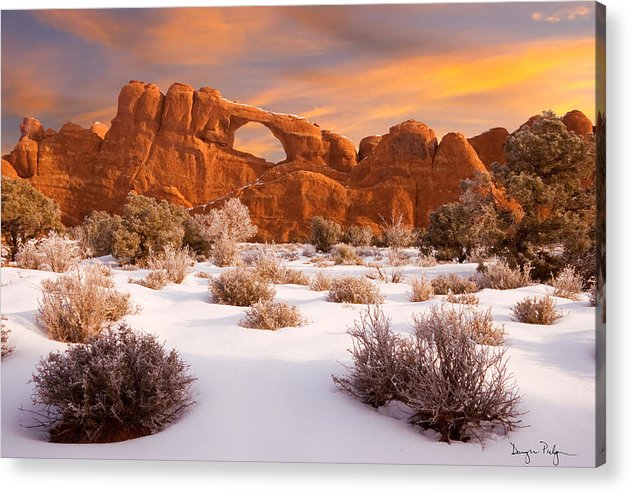 Arches National Park Acrylic Print featuring the photograph Winter Dawn At Arches National Park by Utah Images