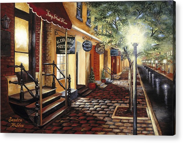 Alexandria Acrylic Print featuring the painting Alexandria At Dawn by Sandra Holden