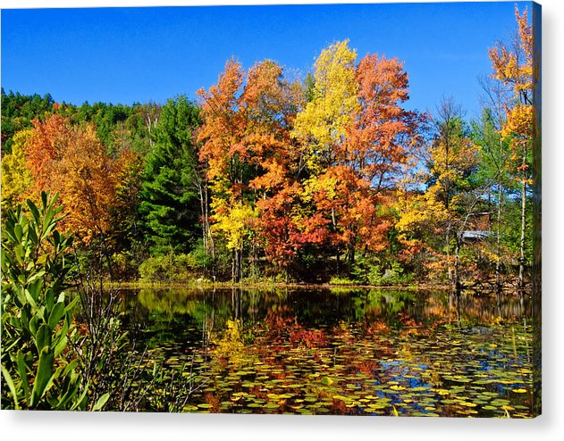 Adirondacks Acrylic Print featuring the photograph Autumn - Fall Color by Louis Dallara