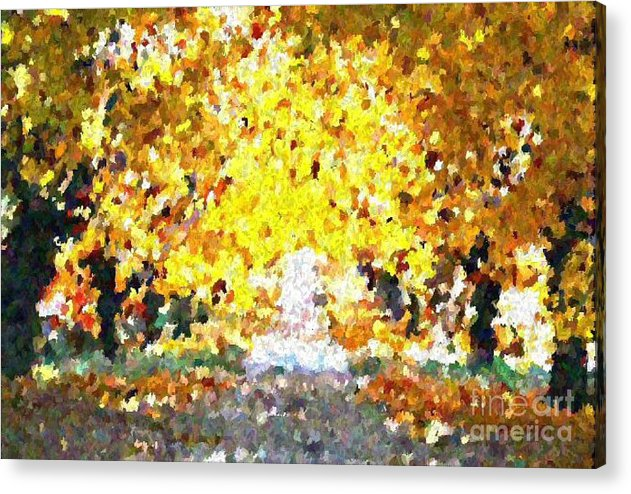 Abstract Acrylic Print featuring the painting Autumn Path by Don Phillips