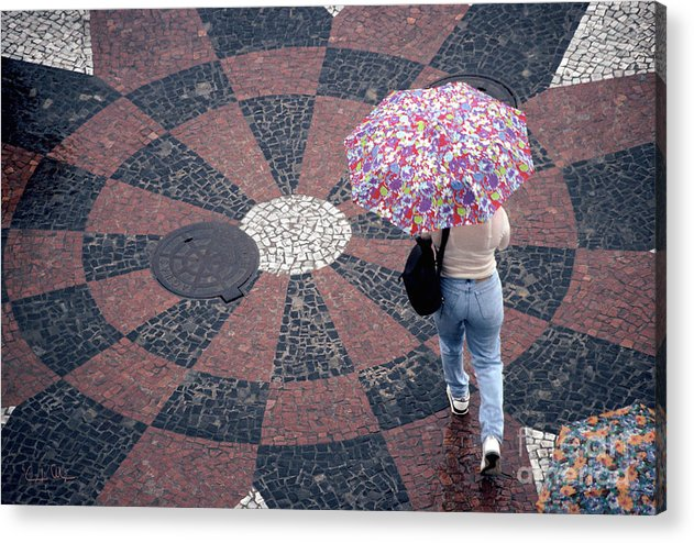Rain Acrylic Print featuring the photograph Florida - Umbrellas Series 1 by Carlos Alvim
