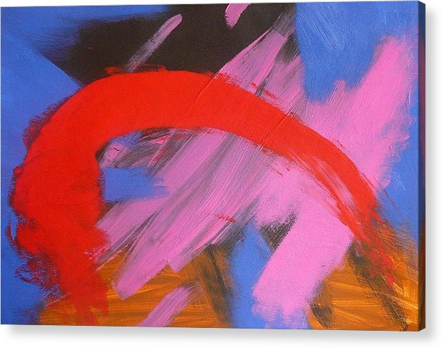 Abstract Acrylic Print featuring the painting Red Arch by Richard OBrien