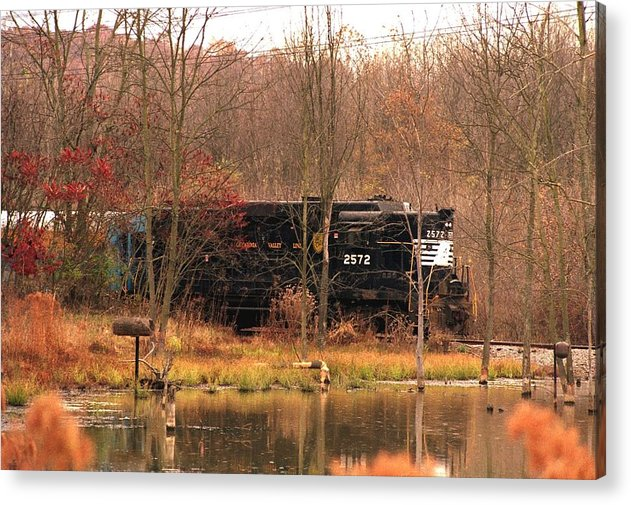 Train Acrylic Print featuring the photograph 080706-57 by Mike Davis