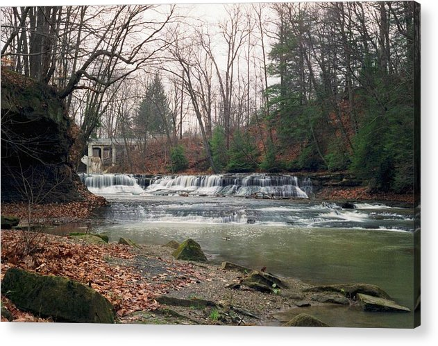 Waterfall Acrylic Print featuring the photograph 092507-2 by Mike Davis
