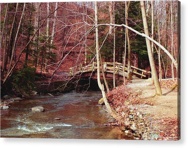 Bridge Acrylic Print featuring the photograph 092908-5 by Mike Davis