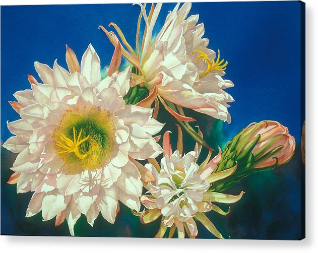 Floral Acrylic Print featuring the print Encore by Mary Backer