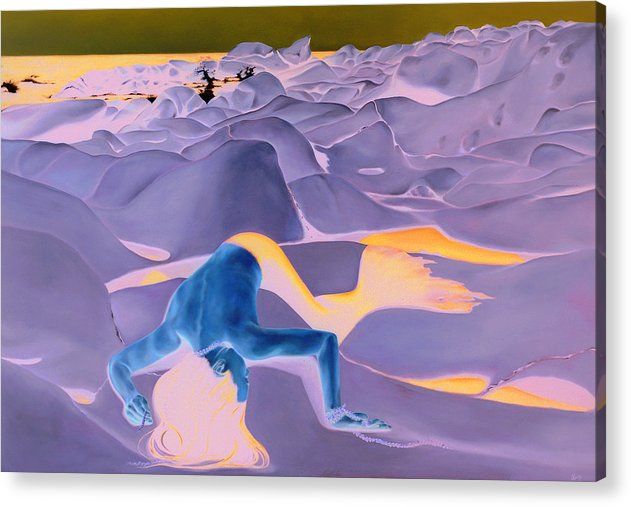 Landscape Acrylic Print featuring the painting La Fin Des Illusions 2 by Helene Fleury