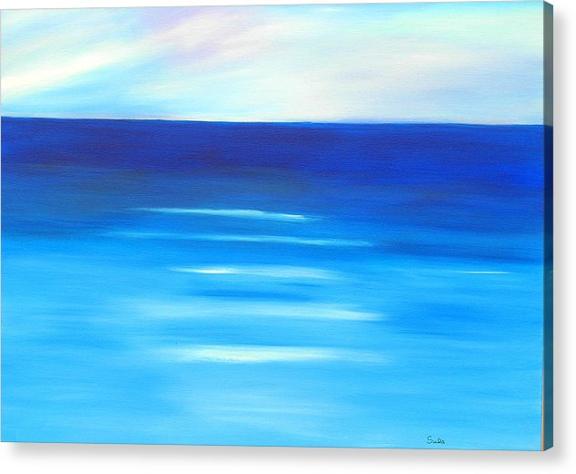 Caribbean Acrylic Print featuring the painting Sapphire Horizon by Sula Chance